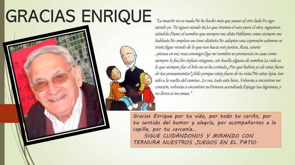 Fallecimiento de Enrique Villegas - Colegios en Granada