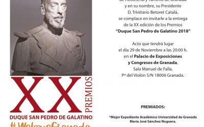María José Sánchez recibe el XX premio Duque San Pedro de Galatino 2018